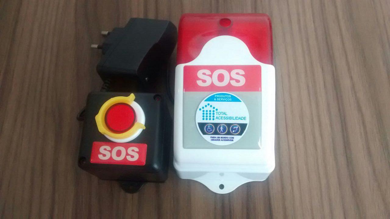 Alarme Audiovisual Sem Fio (Wireless) Para Sanitário Acessível