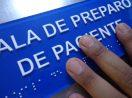 Placa Tátil Braille/Relevo Acrílico 30x20cm